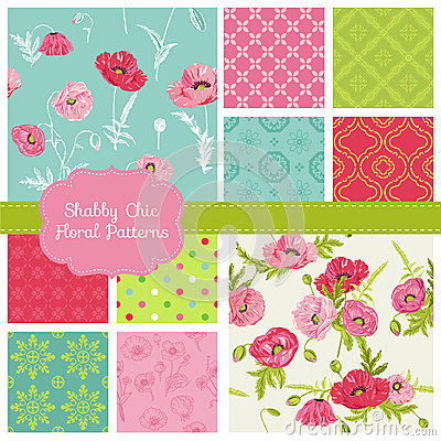 Free Floral Patterns - Poppy Theme Stock Photos - 41811813