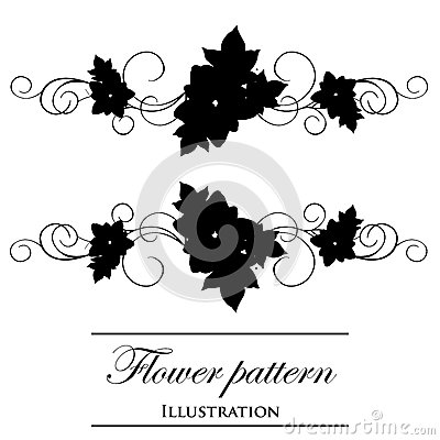 Floral patterns on a white background