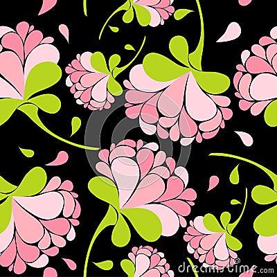 Free Floral Pink Seamless Pattern Stock Photo - 13220310