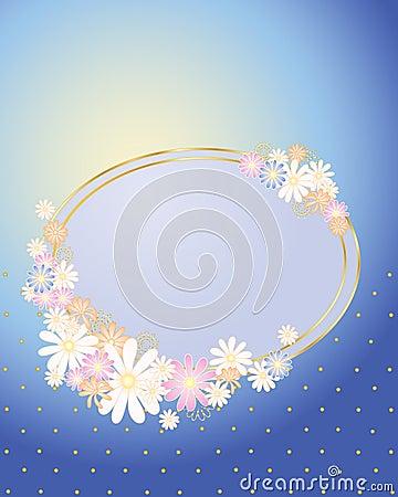 Floral place card