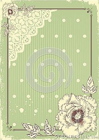 Floral postcard .