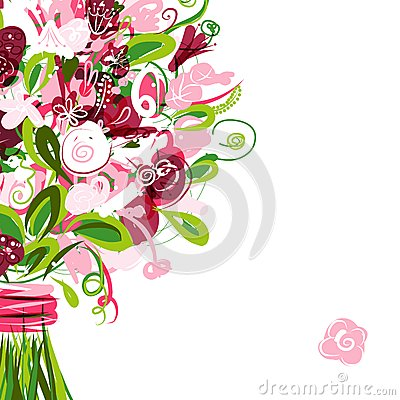 Floral postcard with place for your text