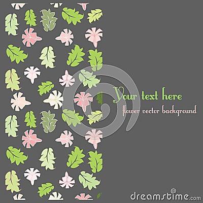 Floral postcard template
