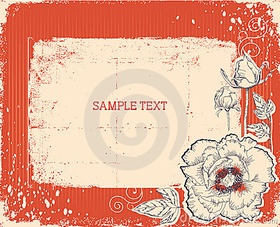 Floral postcard. vintage background