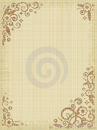 Free Floral Print Canvas Background Royalty Free Stock Photo - 5069375