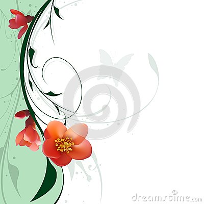 Floral And Red Flowers