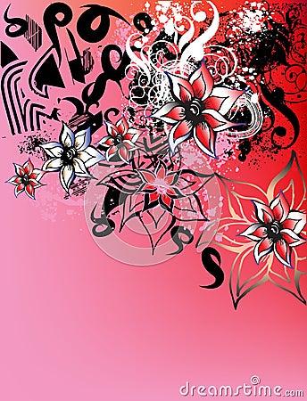 Floral retro background