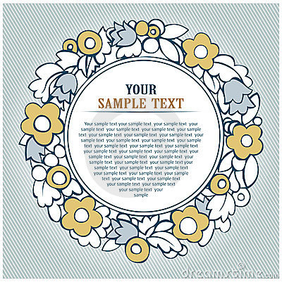 Floral round background