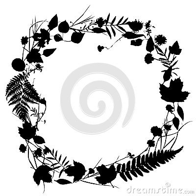 Free Floral Round Frame Wreath Of Flowers, Natural Design   Stock Photo - 99092050