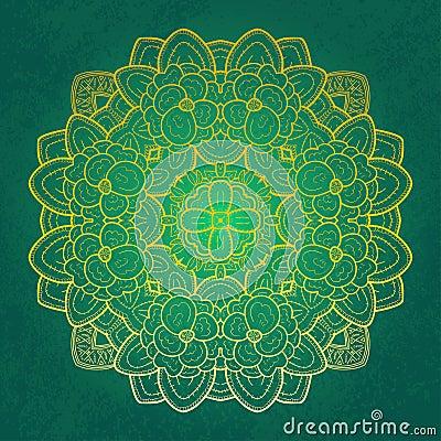 Floral round lace design