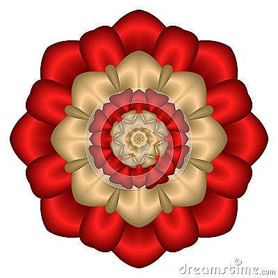 Floral satin star bouquet mandala