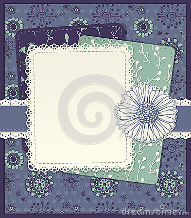 Floral scrapbook card