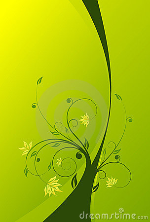 Floral scroll background