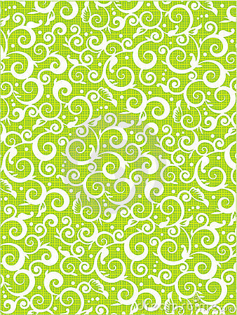 Free Floral Scrolls Pattern Green Background Stock Photography - 8698792