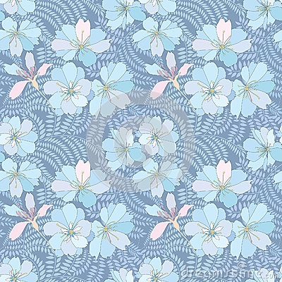 Free Floral Seamless Background. Gentle Flower Pattern. Royalty Free Stock Photography - 30750457