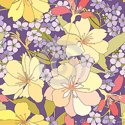 Free Floral Seamless Background. Gentle Flower Pattern. Royalty Free Stock Photos - 30750508