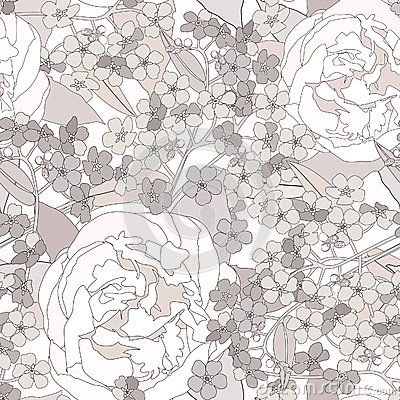 Free Floral Seamless Background. Gentle Flower Pattern. Royalty Free Stock Image - 30750606