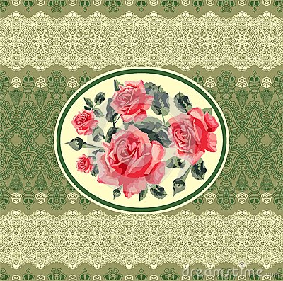 floral seamless card (roses)
