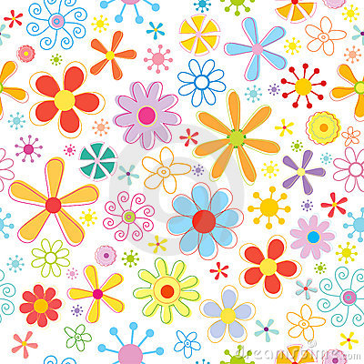 Free Floral Seamless Pattern Stock Image - 13220301