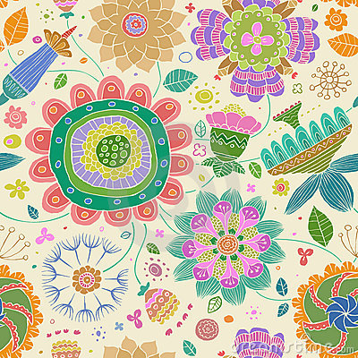 Free Floral Seamless Pattern Royalty Free Stock Photo - 19632095