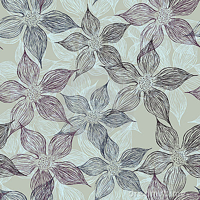Free Floral Seamless Pattern Stock Image - 22745011