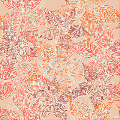 Free Floral Seamless Pattern Royalty Free Stock Photo - 24574175