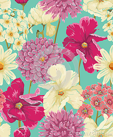 Free Floral Seamless Pattern Royalty Free Stock Photography - 33247707