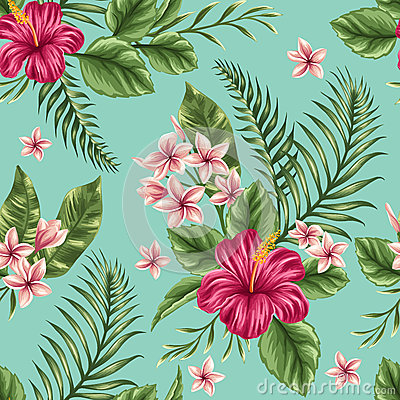 Free Floral Seamless Pattern Royalty Free Stock Image - 50352356