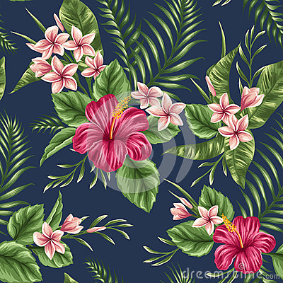 Free Floral Seamless Pattern Royalty Free Stock Photography - 50586337
