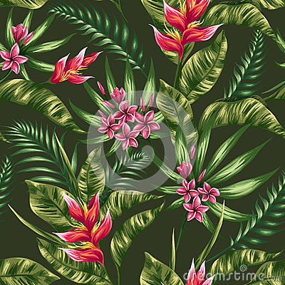 Free Floral Seamless Pattern Royalty Free Stock Photos - 52172438