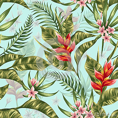 Free Floral Seamless Pattern Stock Image - 52815861