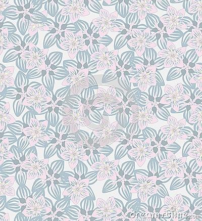 Seamless Green Floral Pattern Free Vectors  DeluxeVectorscom