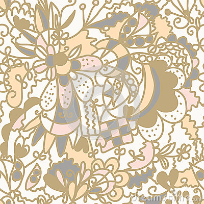 Floral seamless pattern romantic