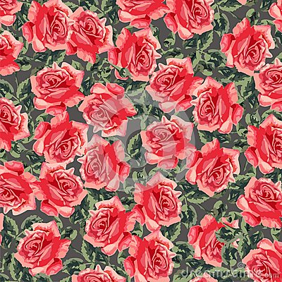 Floral seamless pattern (roses)