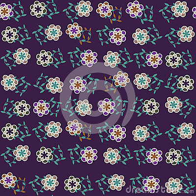 Floral vector seamless pattern and seamless patter
