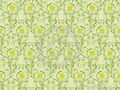 Floral seamless pattern, vecto