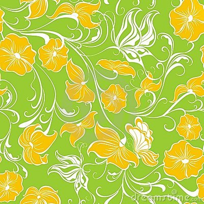 Floral seamless pattern. Vector illustration
