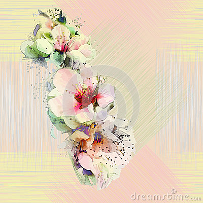 Free Floral Seamless Pattern With Bright Spring Flowers Stock Image - 35939261