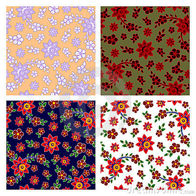Free Floral Seamless Patterns Collection Stock Photo - 22200680