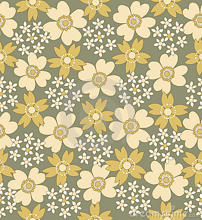 Floral seamless tiled pattern
