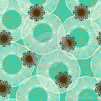 Free Floral Seamless Vector Pattern In 50s Style Royalty Free Stock Photos - 30675758