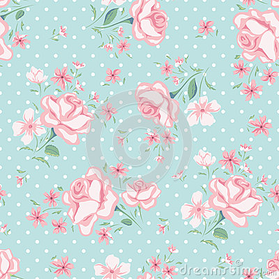 Free Floral Seamless Vintage Pattern 3 Royalty Free Stock Images - 51765069