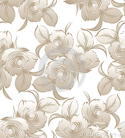 Floral seamless wedding card background