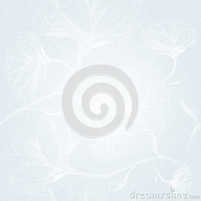 Floral seamless winter pattern