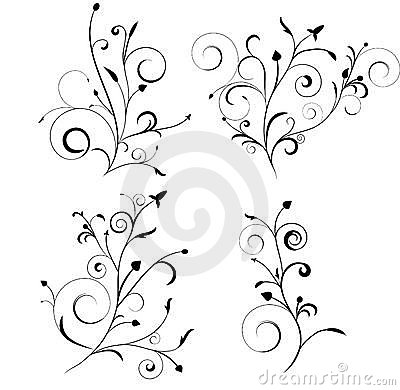 Floral Set Royalty Free Stock Photos - Image: 13526928