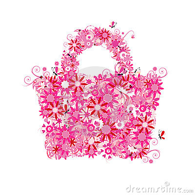 Floral shopping bag, summer sale.