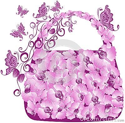 Free Floral Shopping Bag. Vector Illustration Stock Photos - 19735873