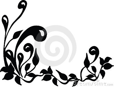 Floral silhouette. Vector.