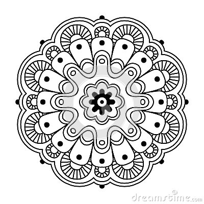 Floral Simple Mandala Stock Vector Image 69603909