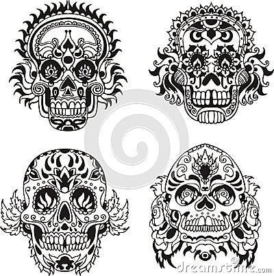 Free Floral Skulls Stock Photo - 28065270